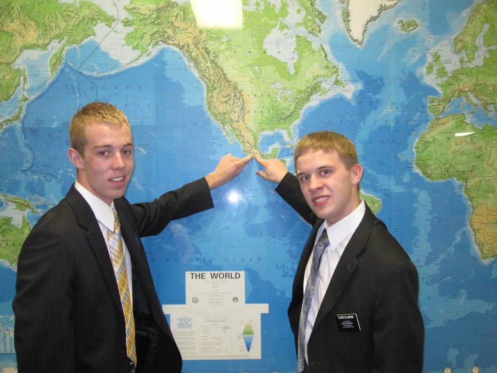 Elder Jason Blanding and his companion Elder Clark This time Jason is on the right.