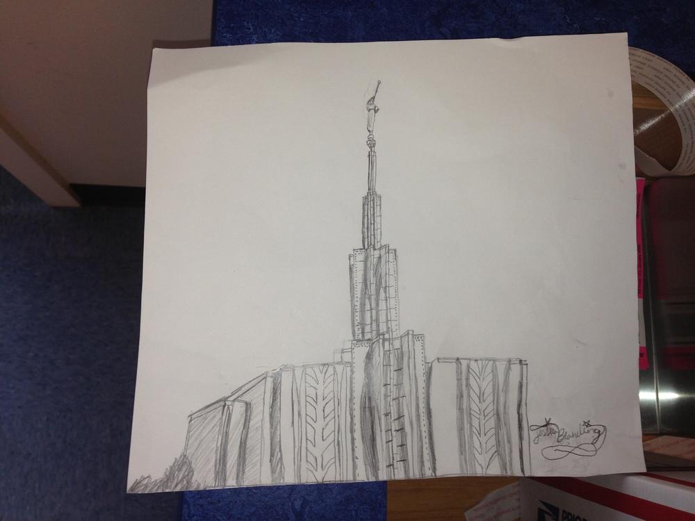 The drawing Jessie sent to Elder Blanding
