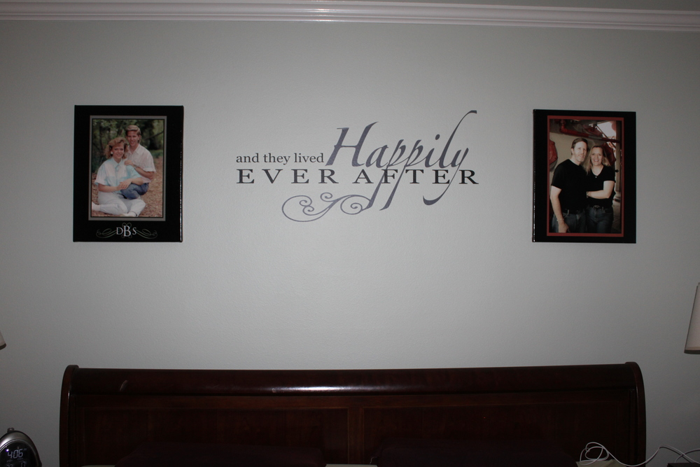 Master bedroom is all done--but now we have a more recent picture to put up.