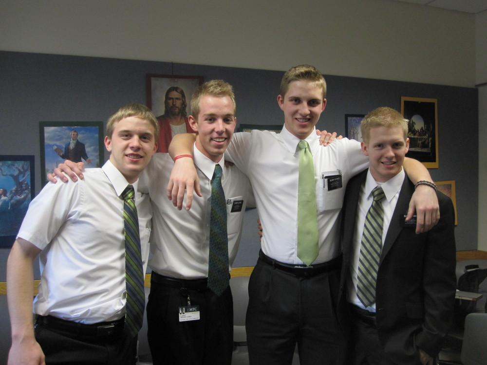 Elder Blanding on the far left.