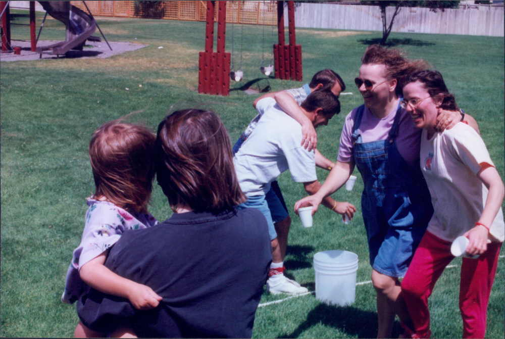Sisters having fun in 1999