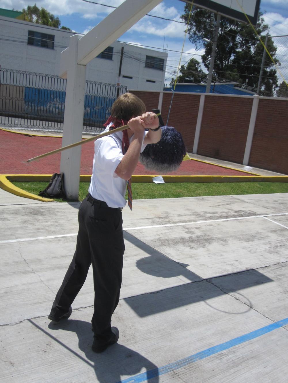 Elder Blanding taking a swing.