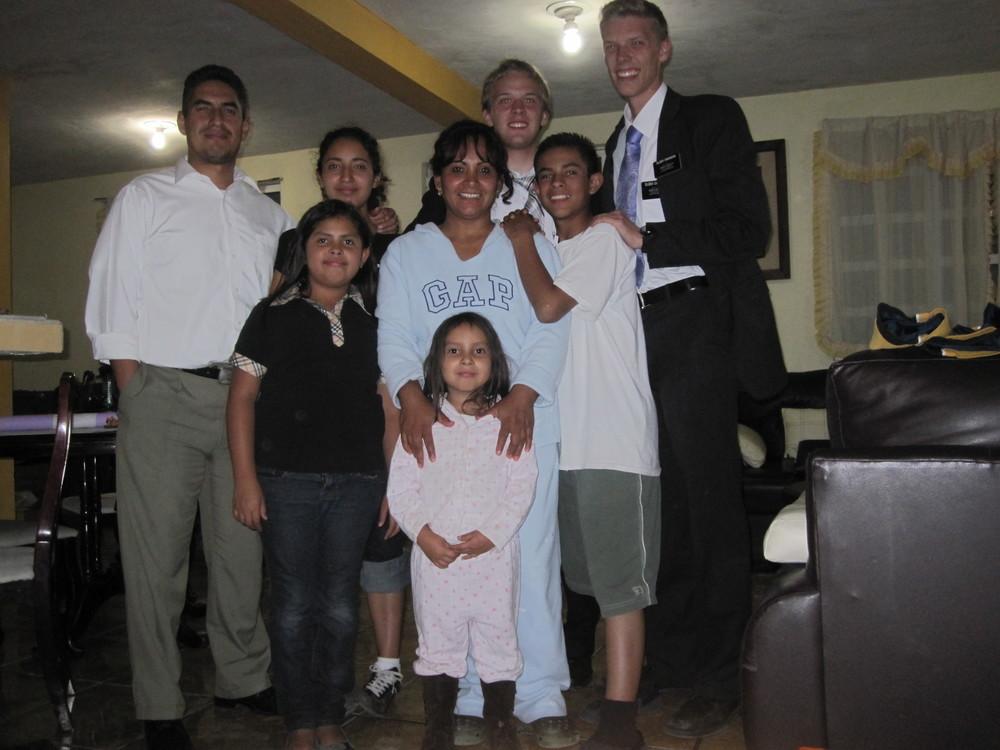 Elder Blanding with the Rocha Family