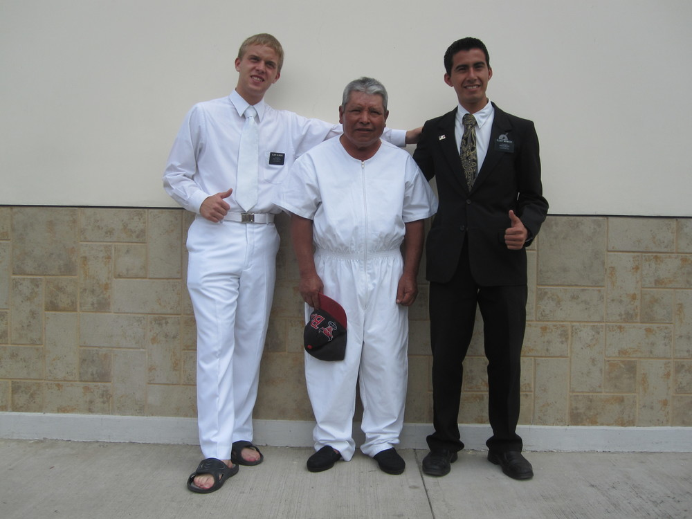 Elder Blanding on the left.
