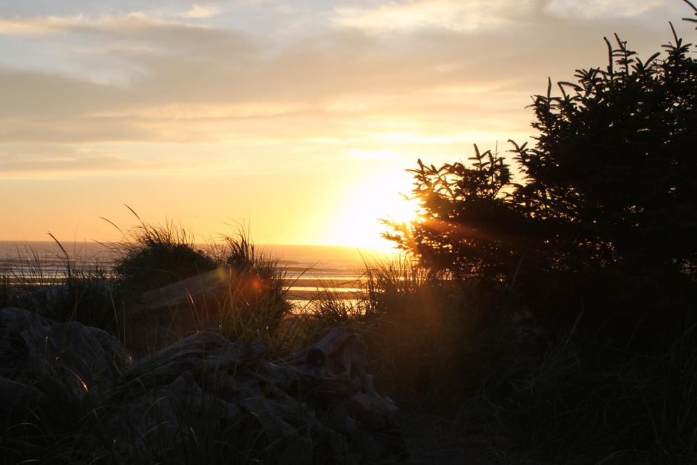 The sunset on Benson Beach