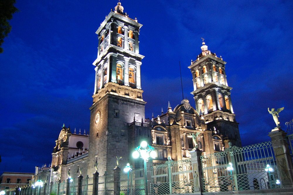 La Catedral Elder Blanding visited today in Puebla. This is from the internet--Elder Blanding didn't take this photo.