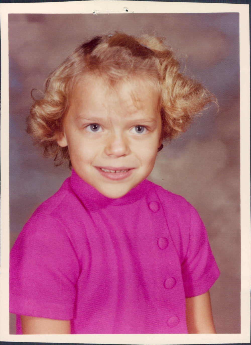 That's me in Kindergarten!