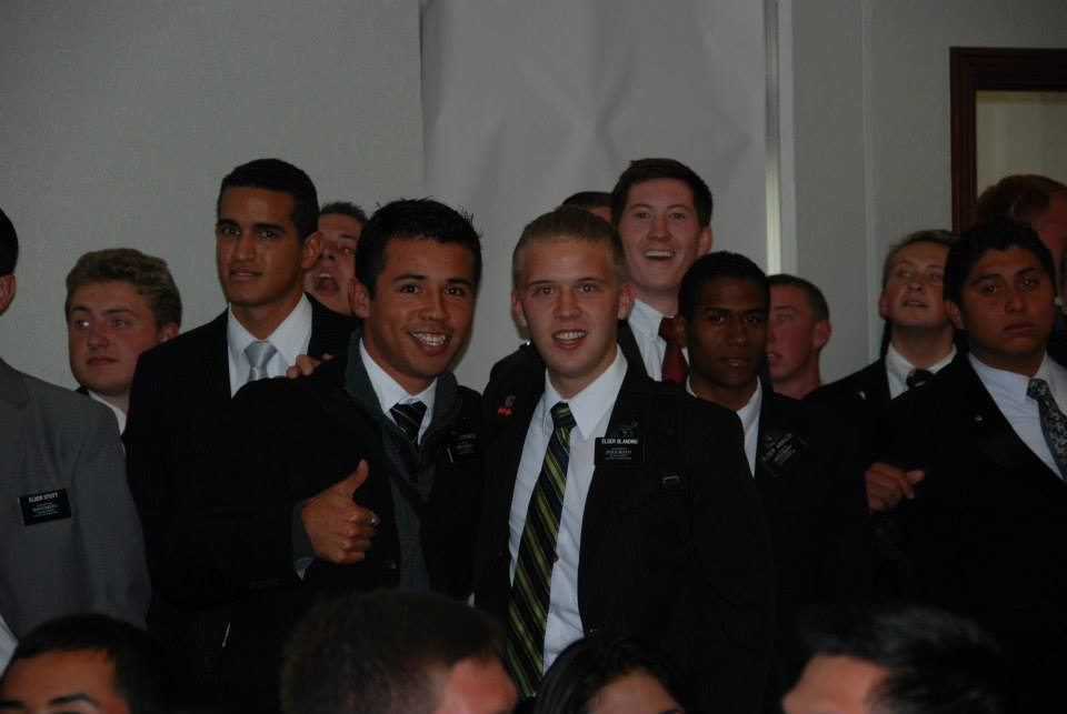 Elder Blanding on the right (the blond)