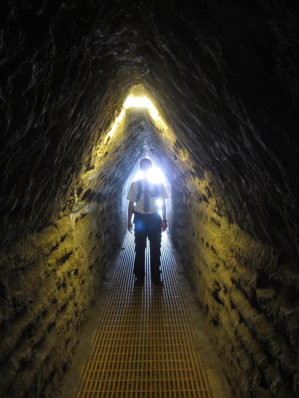 Elder Blanding in a tunnel.