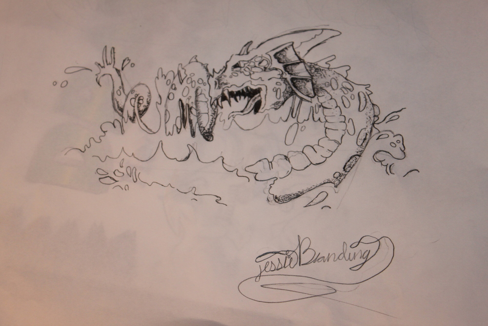 Dragon November 2012 by Jessica Blanding (she was only 12)