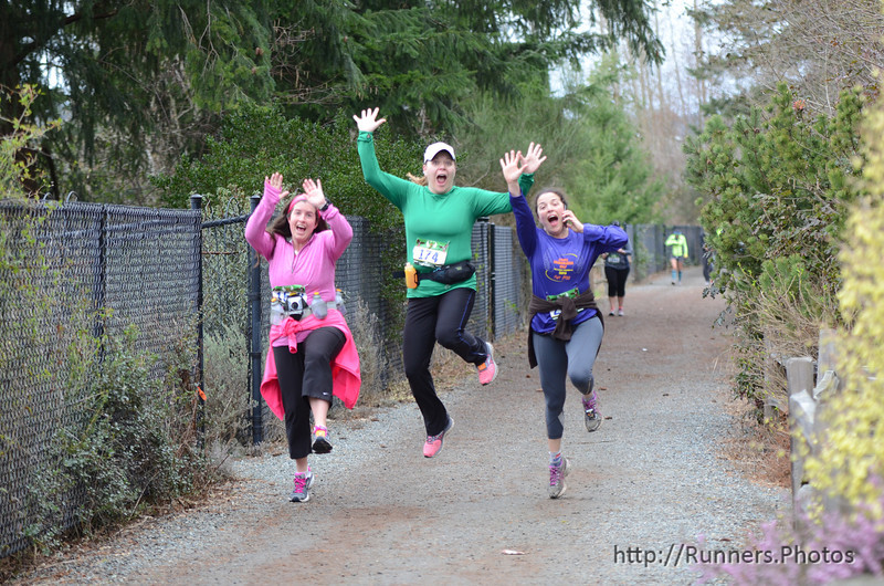 Doreen in Green Lake Sammamish Half with Roy and Linda