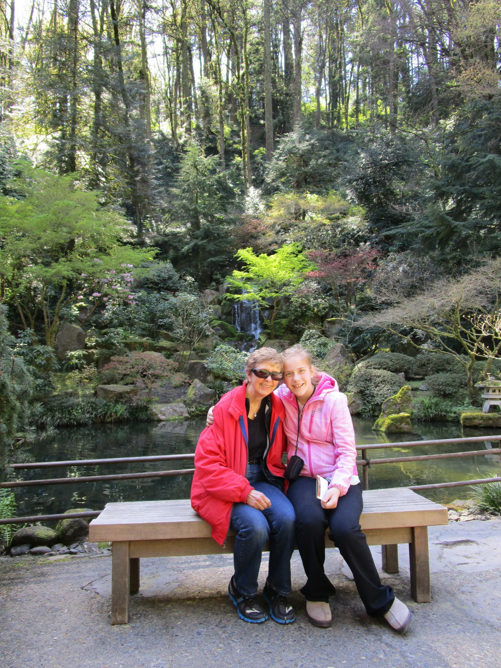 Grandma B and Jessie at the Japanese Garden
