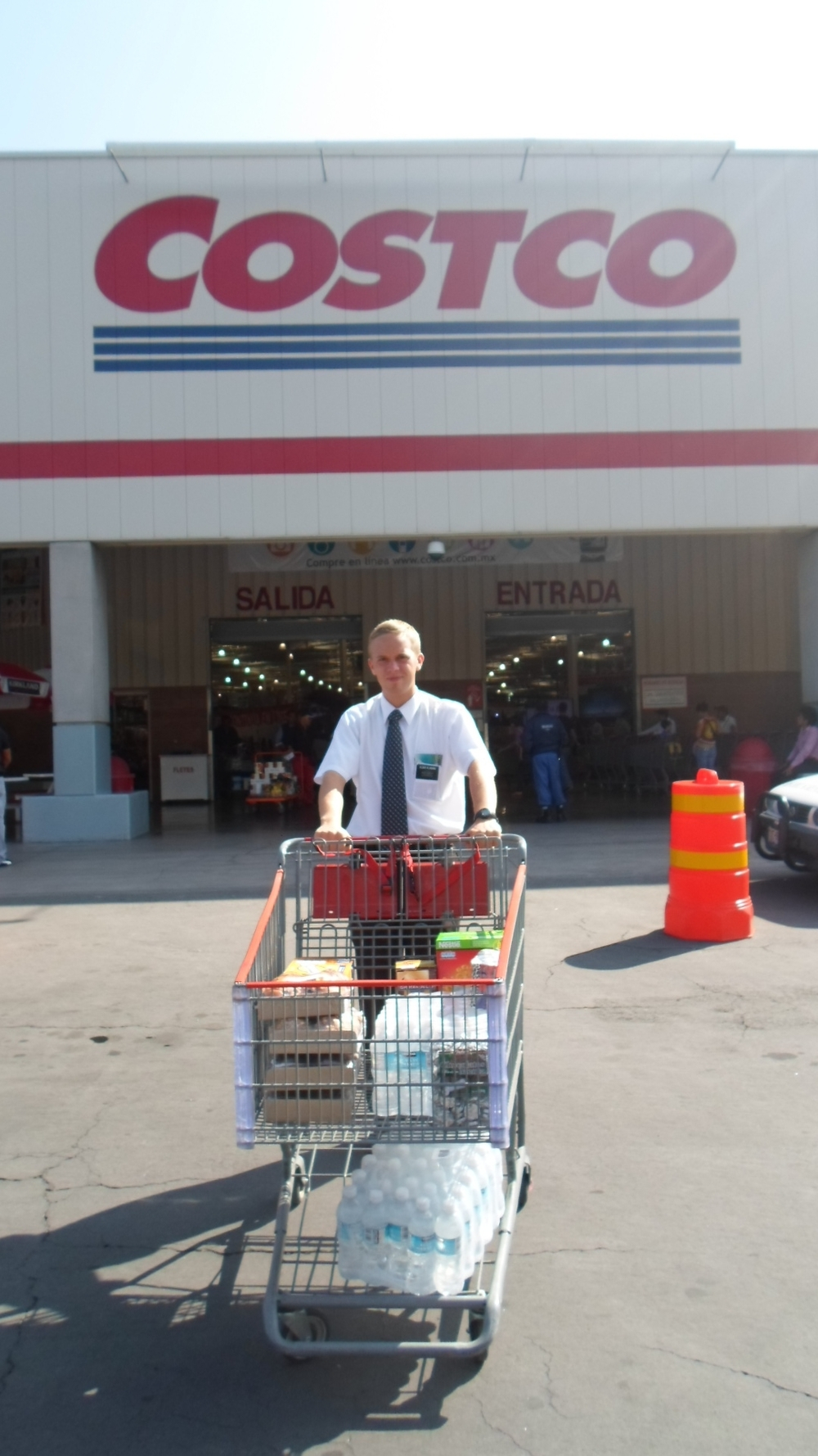 Elder Jason Blanding stocking up.