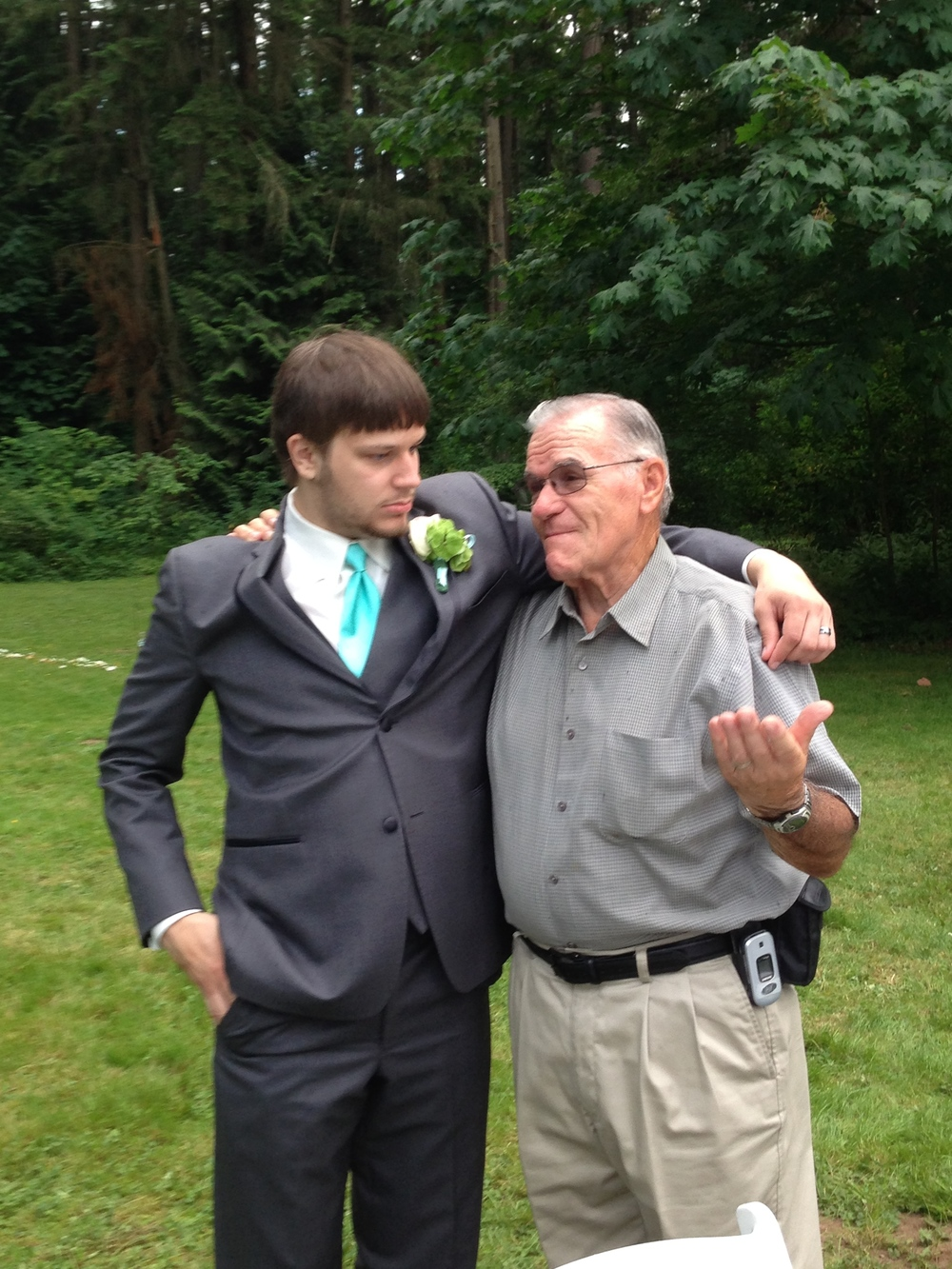 Kray and Grandpa Ostler