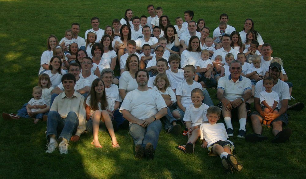 And this is just my mom and dad's part of the family back in 2008. Many more have joined our family.