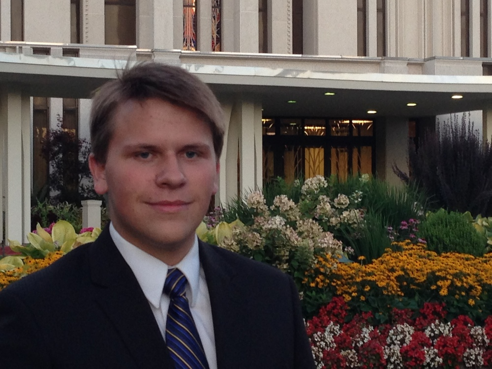 Future Elder Mike Blanding at the Seattle Temple