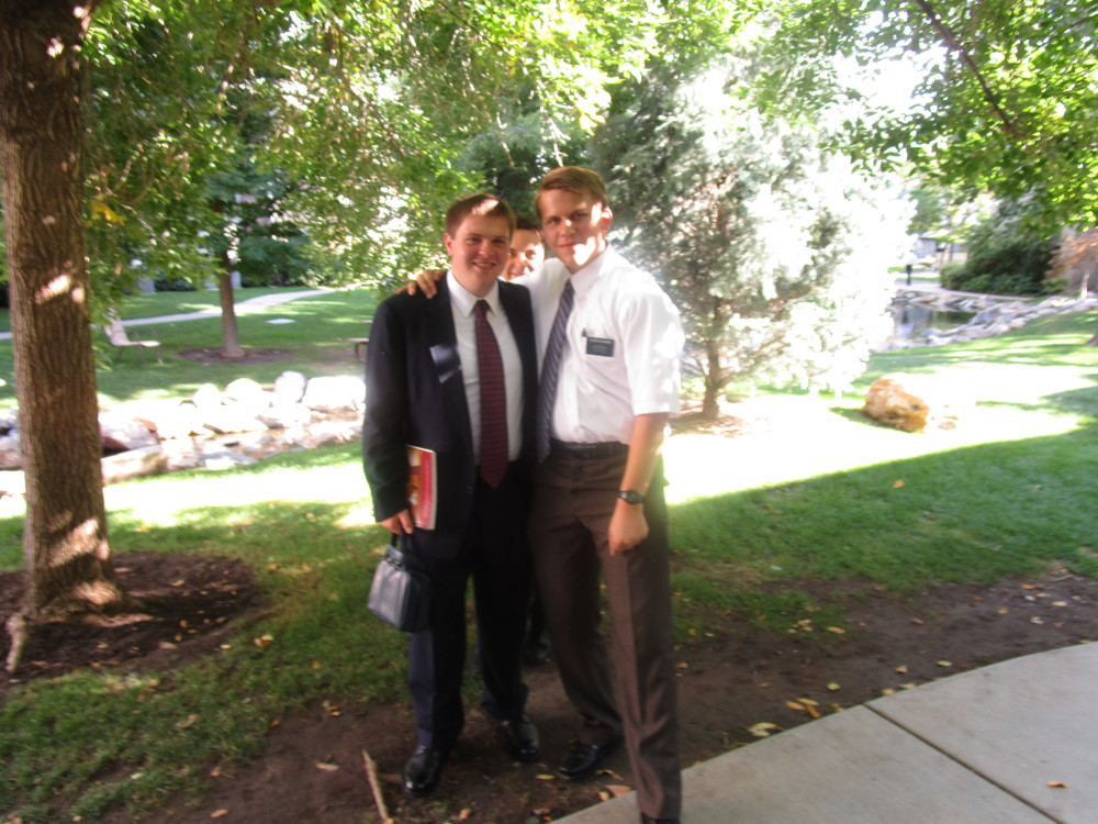 Elder Forsyth and Elder Michael Blanding John Forsyth is an old friend from Redmond, he is going to Oaxaca, Mexico