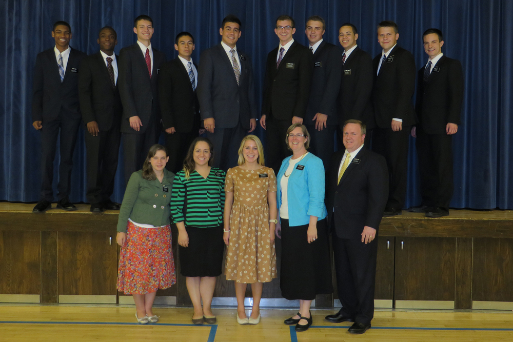 Elder Michael Blanding second from right President and Sister Hall in front right.