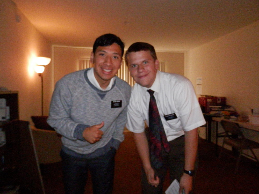 Elder Garcia and Elder Michael Blanding