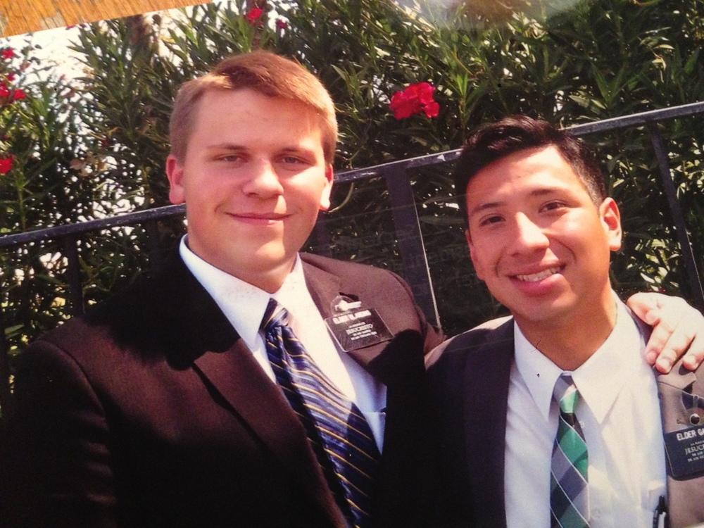 Elder Michael Blanding and his companion in California