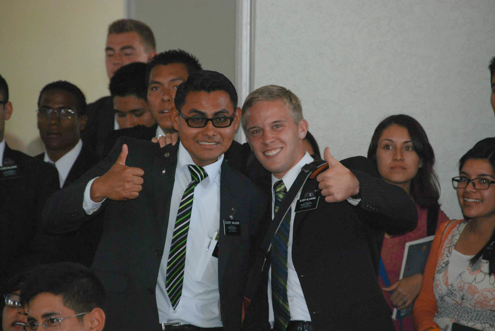 Elder Jason Blanding and his companion in Mexico
