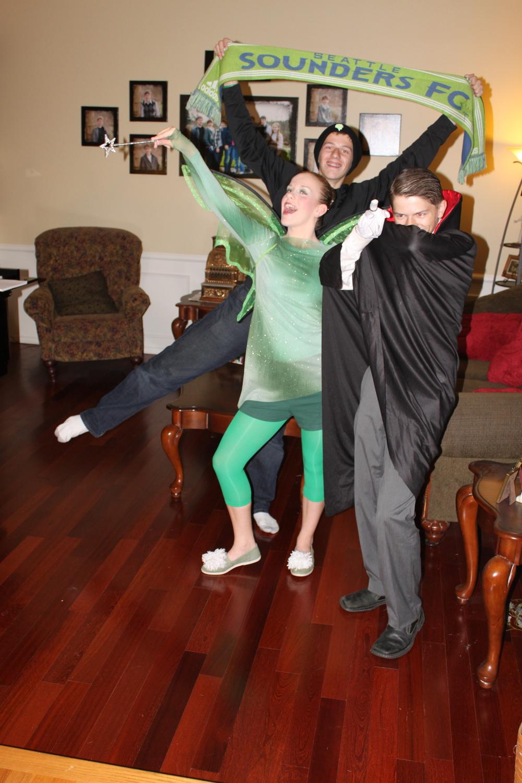 Chris (super fan), Jessie (Tinker Bell) and Matt (Vampire)