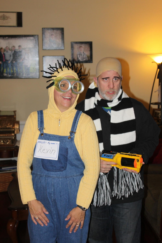 Doreen (Minion Kevin) and Steve (Gru)