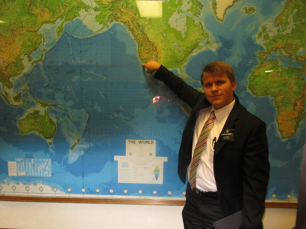 Elder Michael Blanding is serving in California, San Fernando Spanish speaking
