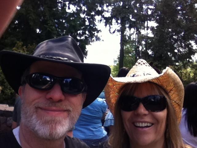 We wear hats and sunglasses! TWINS!