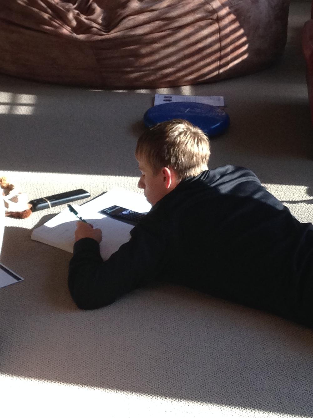 Love how my son studies.