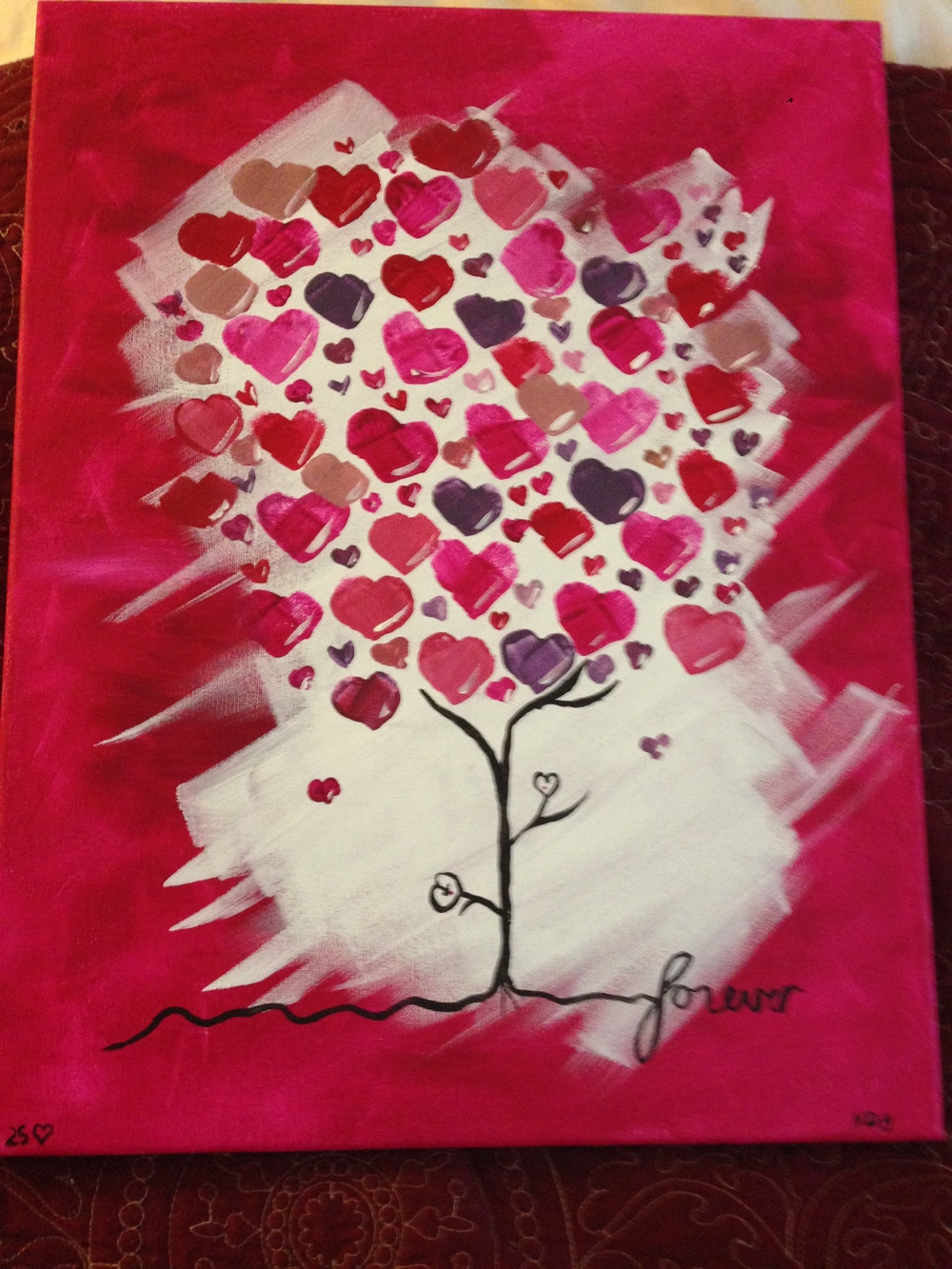 "Doreen's painting ""Forever"""