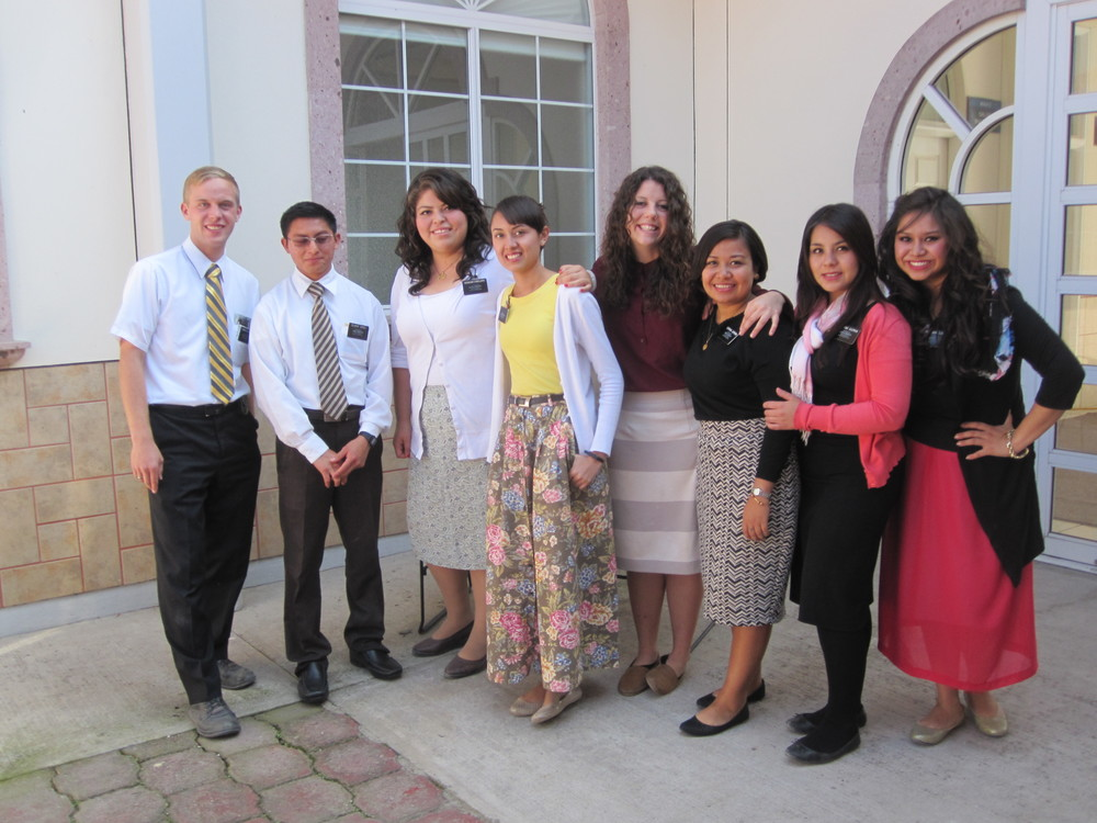 Elder Jason Blanding (the only blond) and his district. Notice how dirty his shoes are. He must be working hard!