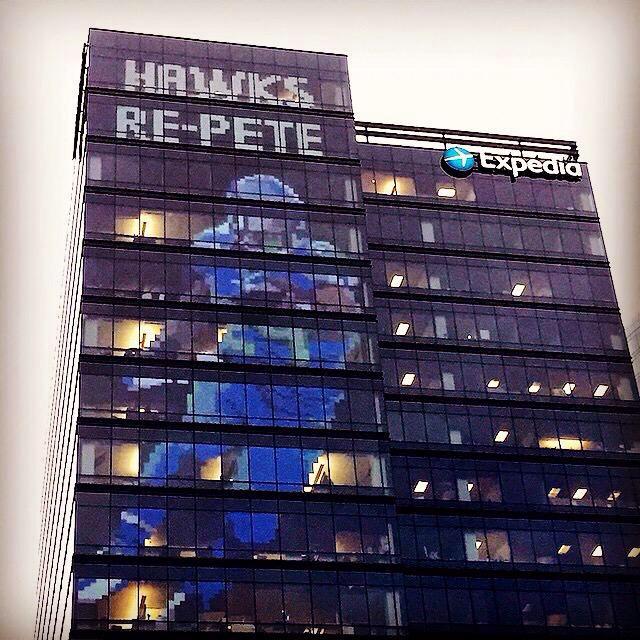 The Expedia building in Bellevue