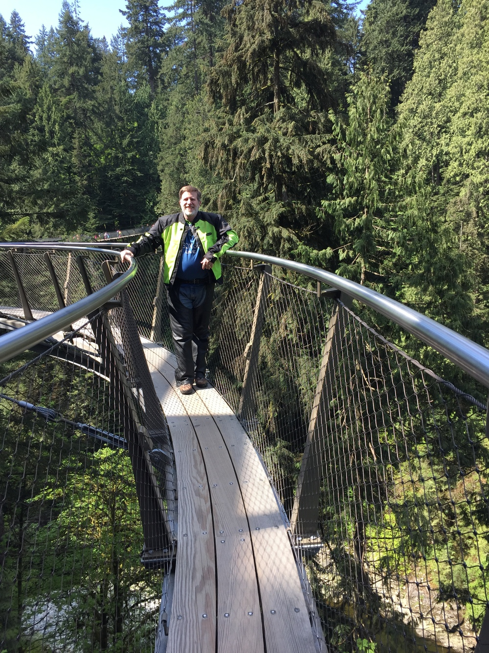 Steve on the suspension bridge.