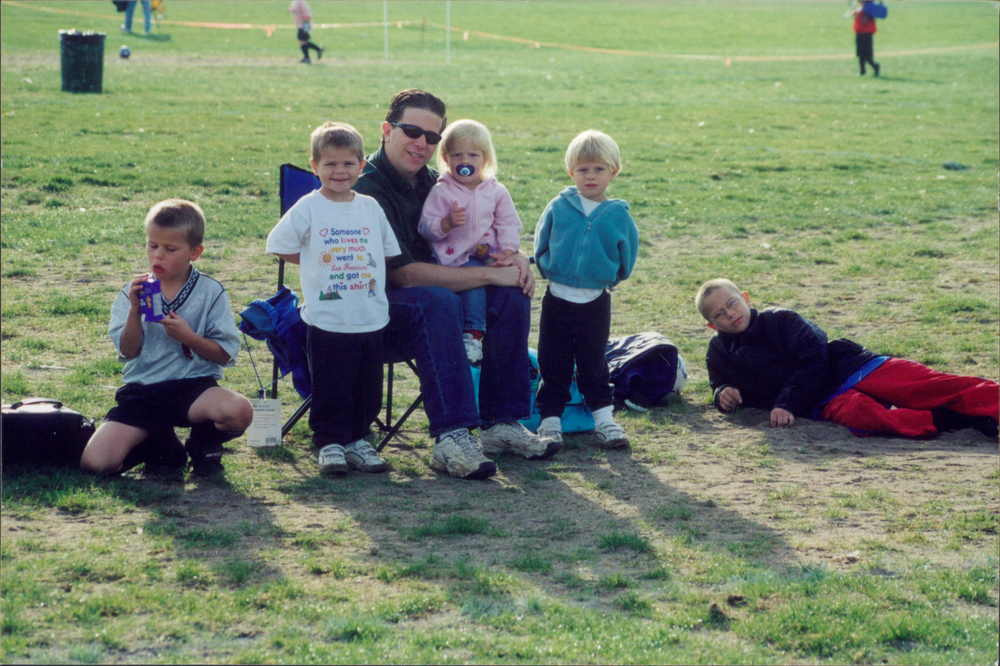 It's always been a family affair, 2002. In fact that little girl Jessie was just a week or two old when she went to her first soccer game.