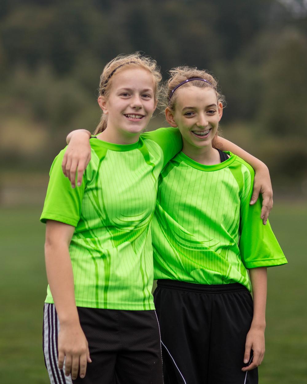 2014 Jessie & Chelsey. Soccer Buddies!