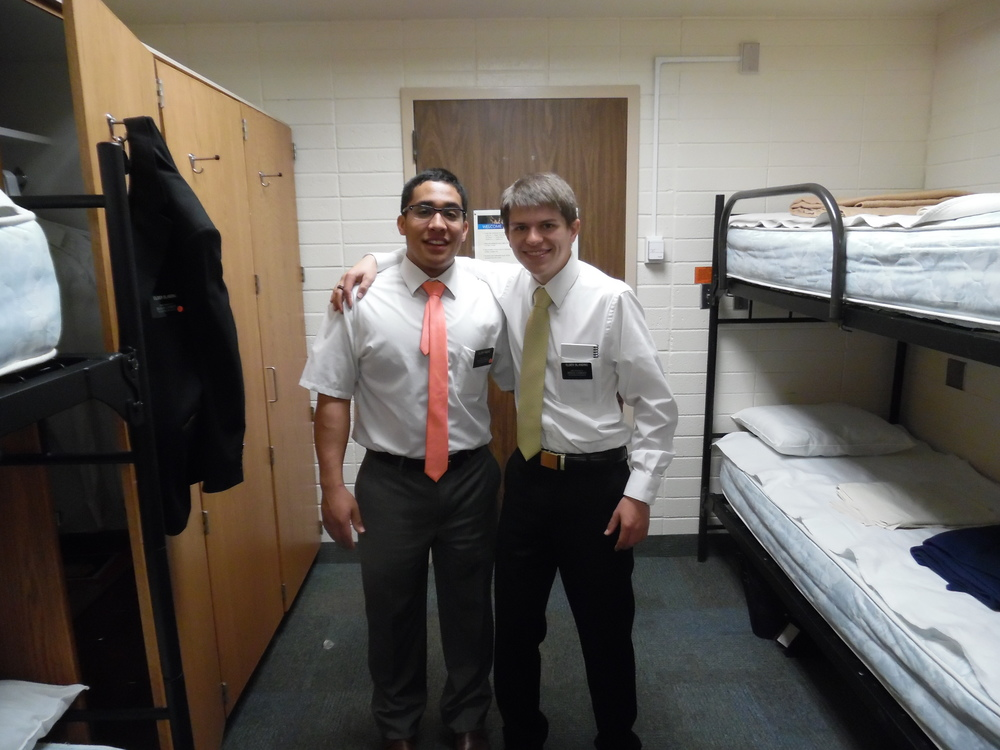 Elder Pinero and Elder Matthew Blanding