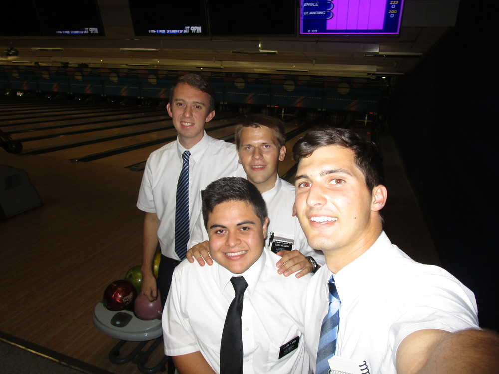 Elder Michael Blanding second from the left in back.
