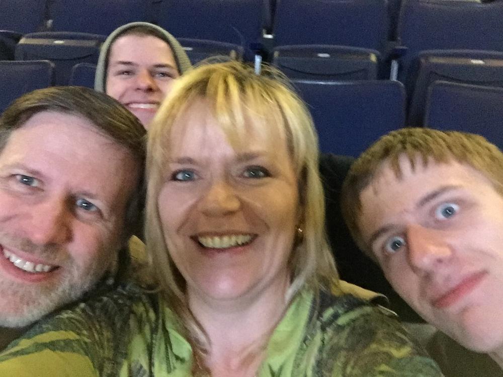 Steve, Matt, Doreen & Chris (Jessie was at dance practice)