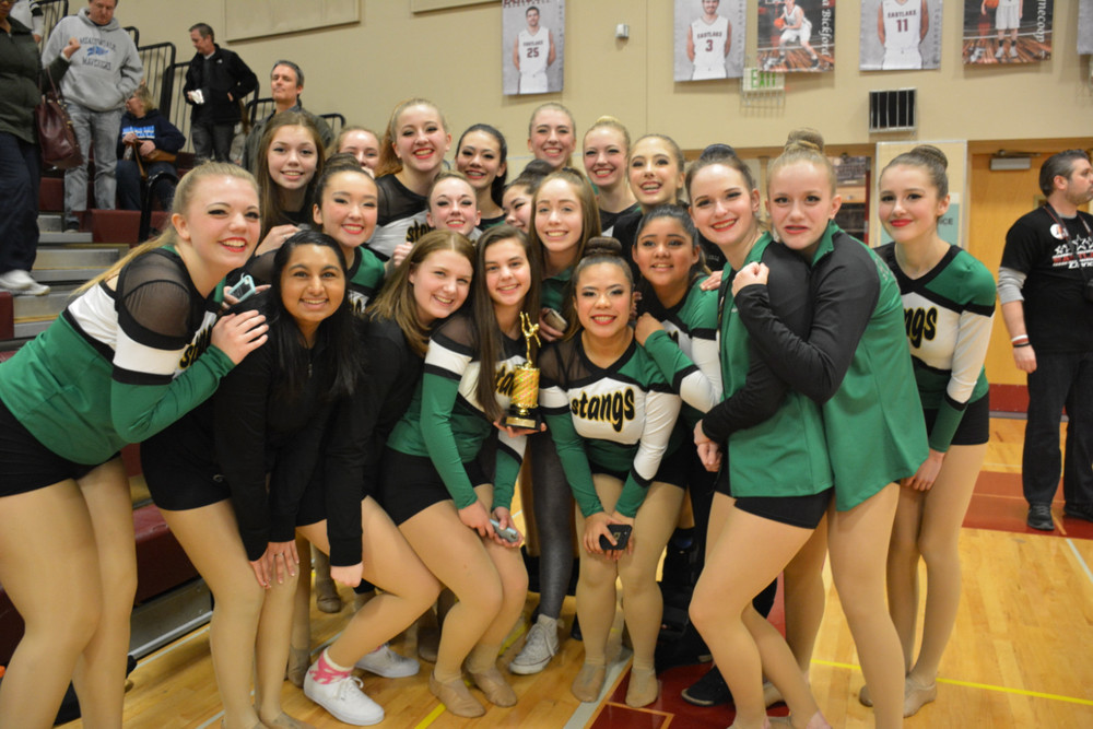 Jessie with her team and the trophy! (Jessie is second from the right.)