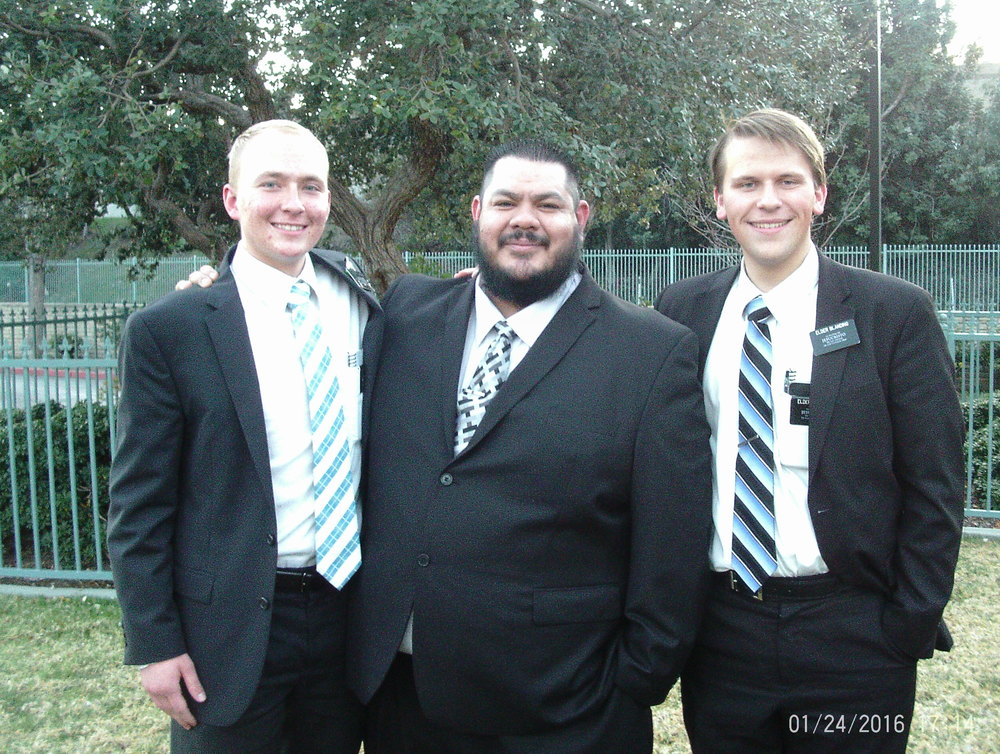 Elder Jager and Elder Michael Blanding