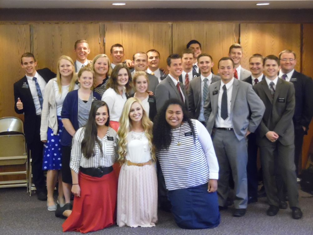 Elder Matthew Blanding (far right front)