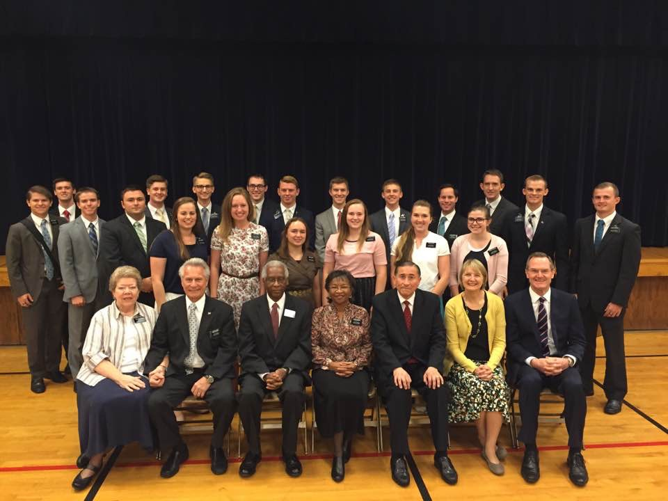 Elder Blanding is on the far left
