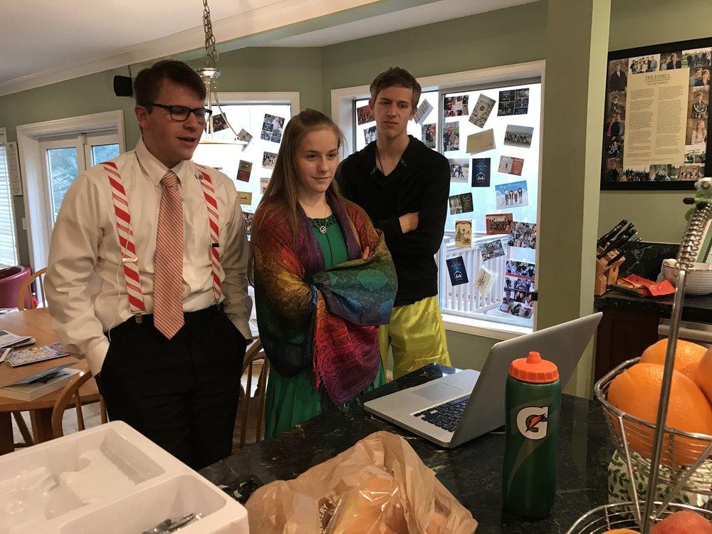Mike, Jessie & Chris talking to Elder Matthew Blanding