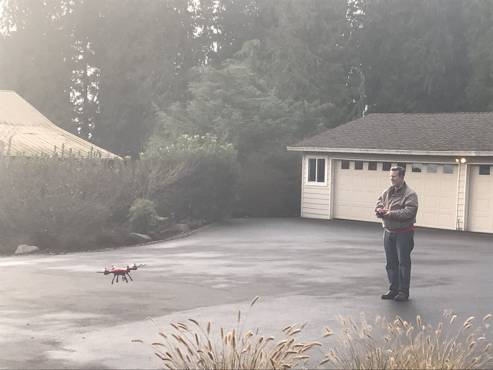 Steve flying his drone