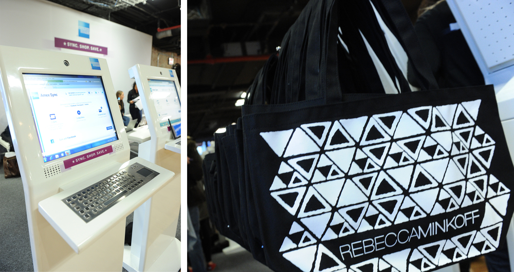 Card Members who Synced their card on-site received a complimentary limited-edition Rebecca Minkoff tote.