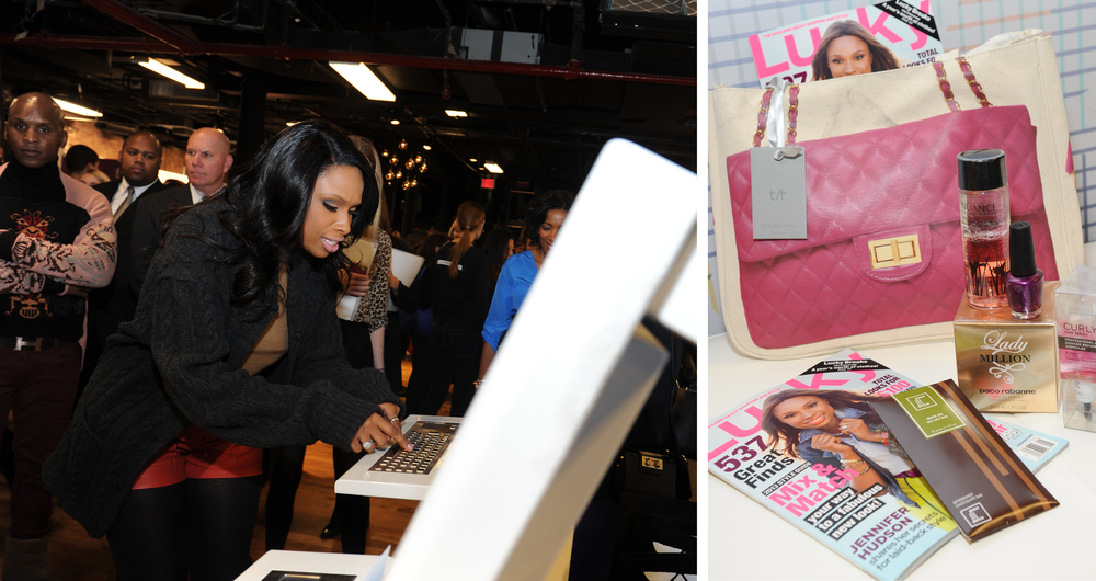 Even Lucky covergirl Jennifer Hudson stepped up to Sync her card.