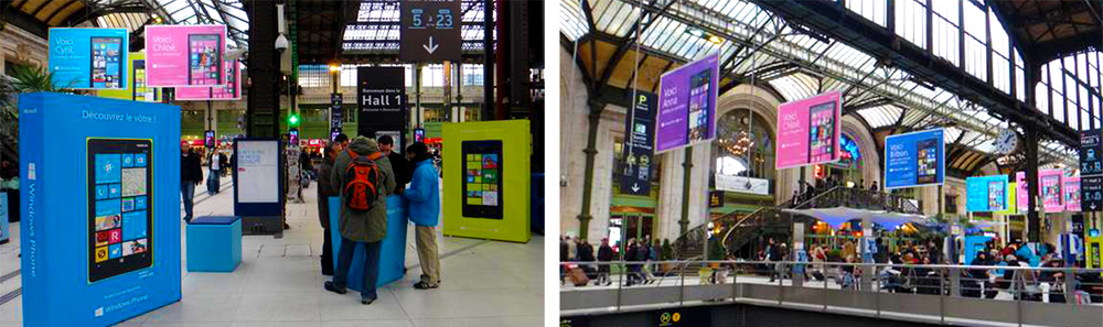 Pop-up activations appeared in highly-trafficked areas, engaging tens of thousands of people.