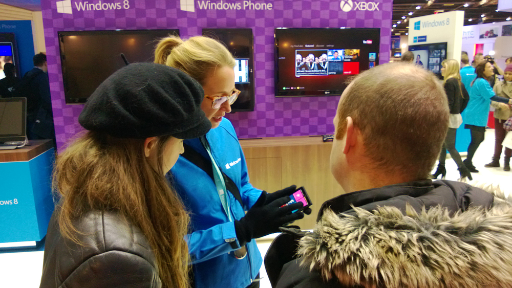 Brand Ambassadors engaged consumers and introduced them to the new Windows Phone 8.