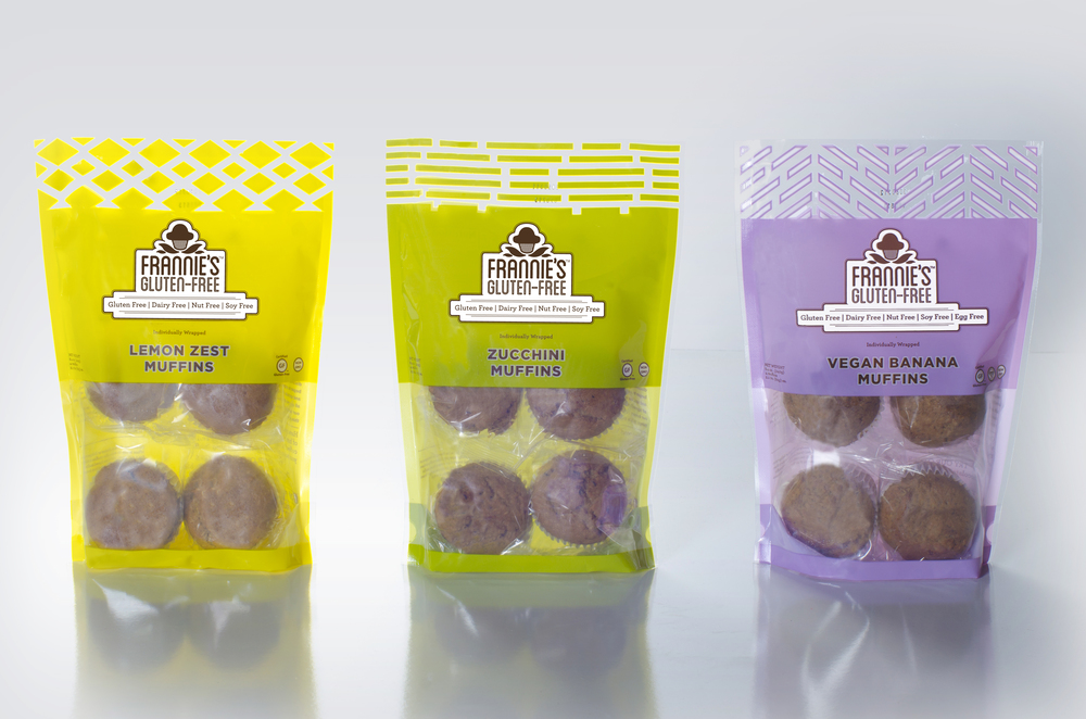 The pouches house 4 individually wrapped muffins to ensure quality and protection from freezer burn.